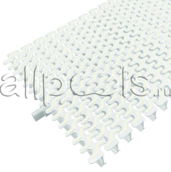 Решетка переливная ESSE радиал.уч., шир. 250 мм, выс. 20 мм, дл.500 мм, цвет-бело-белый