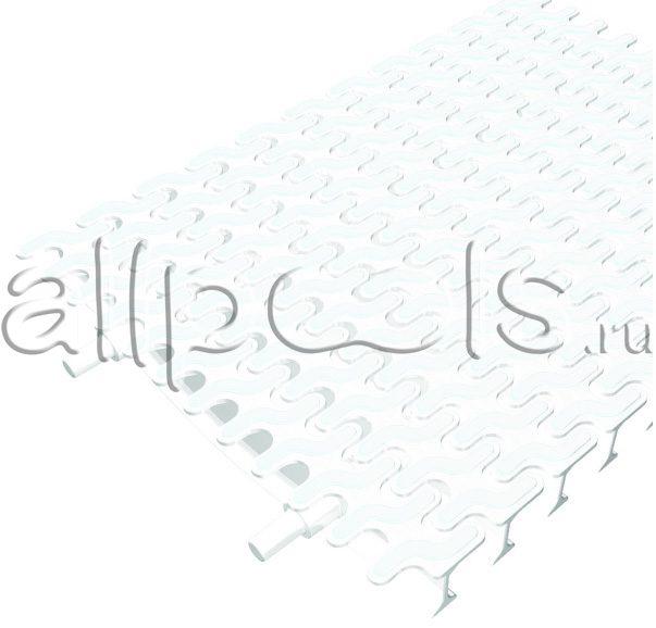 Решетка переливная ESSE угл.уч., шир. 195 мм, выс. 20 мм, дл. 500 мм, цвет-бело-белый