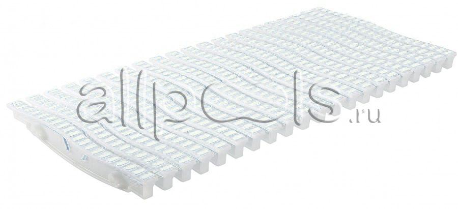 Решетка переливная ONDA прям.уч., шир. 150 мм, выс. 20 мм, дл. 500 мм, цвет-бело-белый