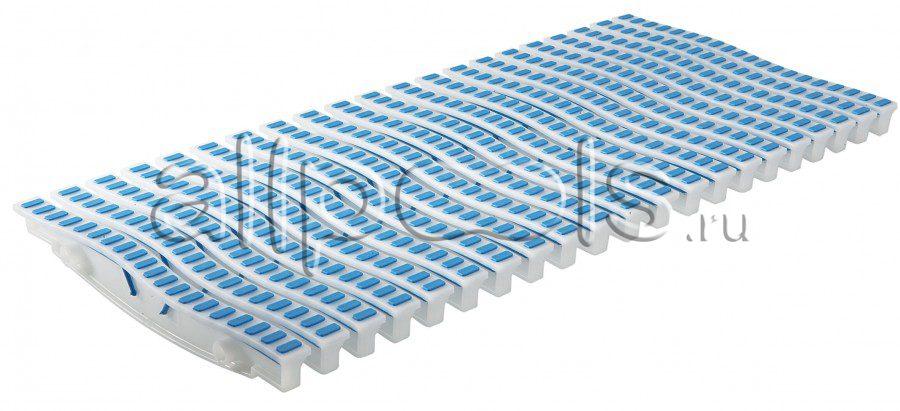 Решетка переливная ONDA прям.уч., шир. 200 мм, выс. 20 мм, дл. 500 мм, цвет-бело-синий
