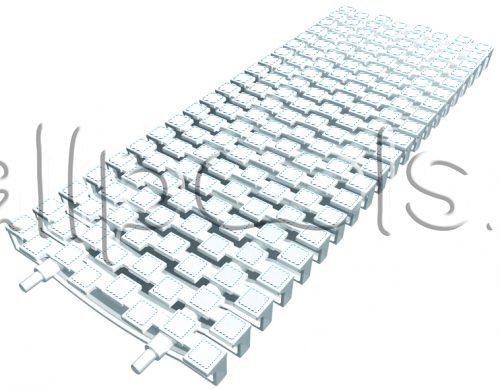 Решетка переливная SCACCO прям.уч., шир. 200 мм, выс. 20 мм, дл. 500 мм, цвет-бело-белый