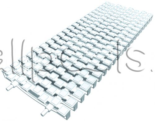 Решетка переливная SCACCO прям.уч., шир. 200 мм, выс. 25 мм, дл. 500 мм, цвет-бело-белый