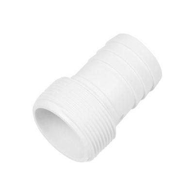 Штуцер для шланга D39 мм х 1 1/2″ наружная резьба, белый
