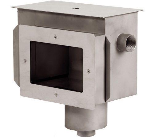 Скиммер с камерой долива и переливным желобом для пленочного бассейна, удлиненная горловина, внутр. резьба 2″