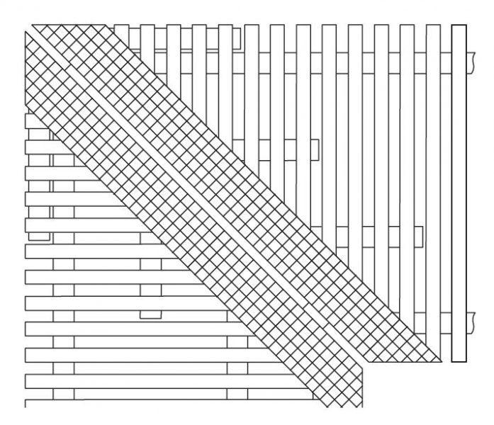 Скошенный угол (наценка) для решетки тип 760