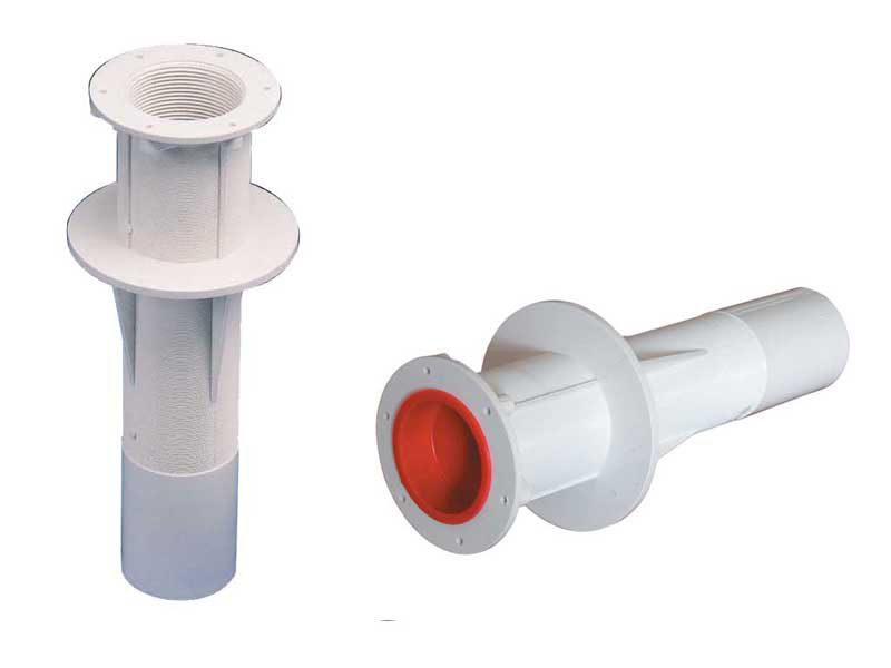 Стеновой проход 300 мм , 2″ внеш. р., ABS пластик, под бетон, GEMAS (Турция)