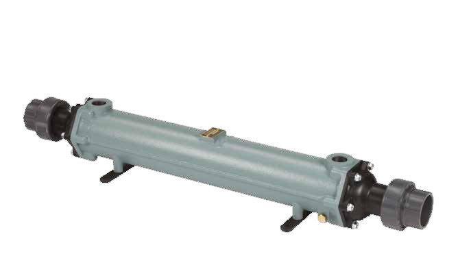 Теплообменник трубчатый 130 кВт (при T=70°С), титан, вых.: 63 мм/ 1″ внутр.р