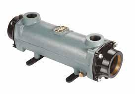 Теплообменник трубчатый 170 кВт (при T=82°С), купроникель, вых.: 2 1/2″ внутр.р./ 1 1/4″ внутр.р
