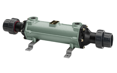 Теплообменник трубчатый 40 кВт (при T=82°С), купроникель, вых.: 50мм/ 3/4″ внутр.р.