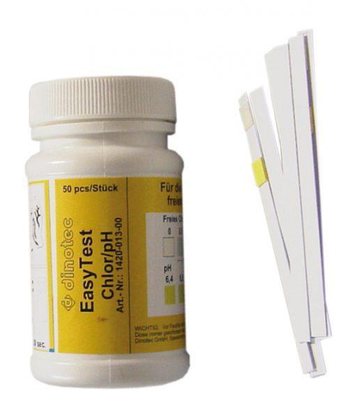 Тестовые полоски для PH, хлора Easytest Chlor (изитест хлор)
