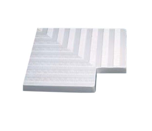 Угловой элемент переливной решетки 180 мм, 90 гр., белый, полиэстер (77488)