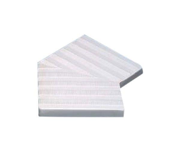 Угловой элемент переливной решетки 300 мм, 45 гр., белый, полиэстер (77500)