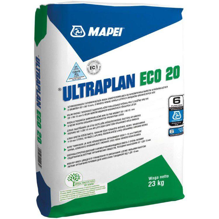 ULTRAPLAN ECO 20,быстросхватывающаяся самовыравнивающаяся шпаклевка рос. пр-ва д/полов, 23 кг