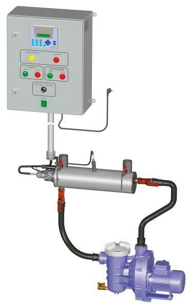 Установка ультрафиолетовой дезинфекции воды MASTER, 420 м3/ч, 3200 Вт