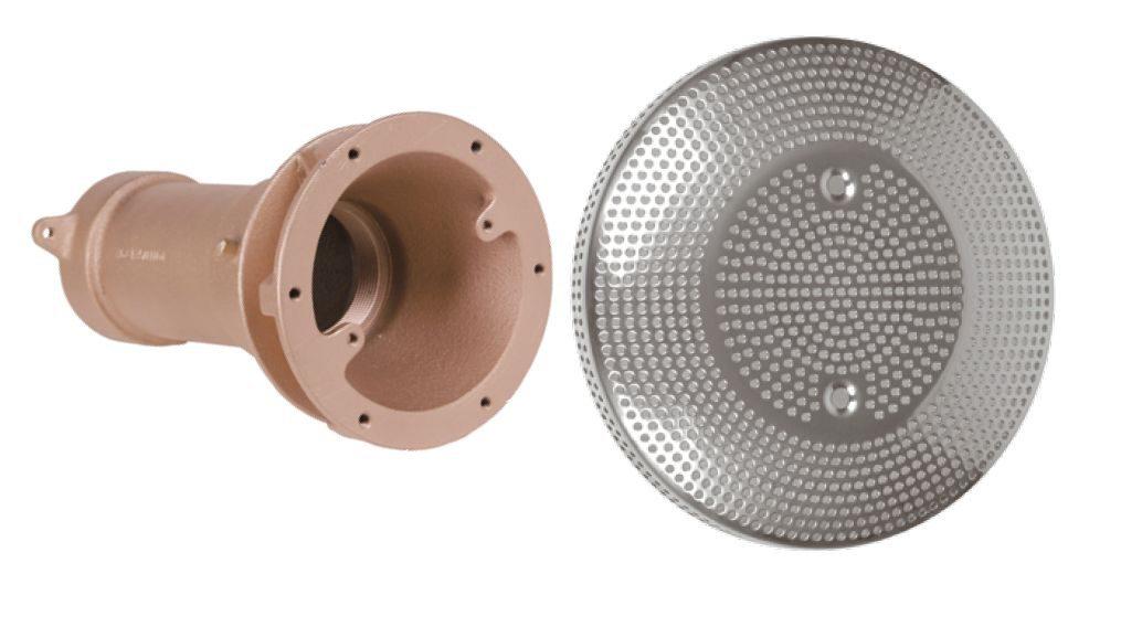 Устройство водозабора DN 65, вых. 2 1/2″ внутр.р., с накл. из нерж.стали 316L ? 285 мм, BZ