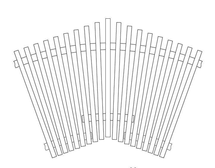 Веерный угол (наценка) для решетки тип 723