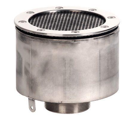 Водозабор с сетчатой крышкой для плиточного бассейна, D=165×100 мм, наруж. резьба G2