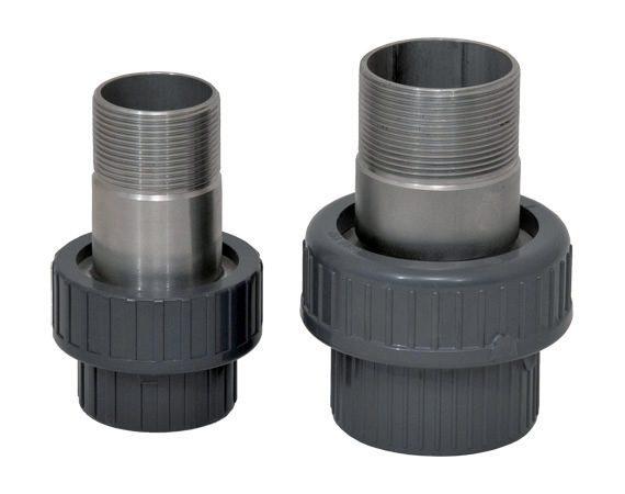 """Вставка с муфтой разъемной 50 мм,  1,5"""" для теплообменника Xenozone"""