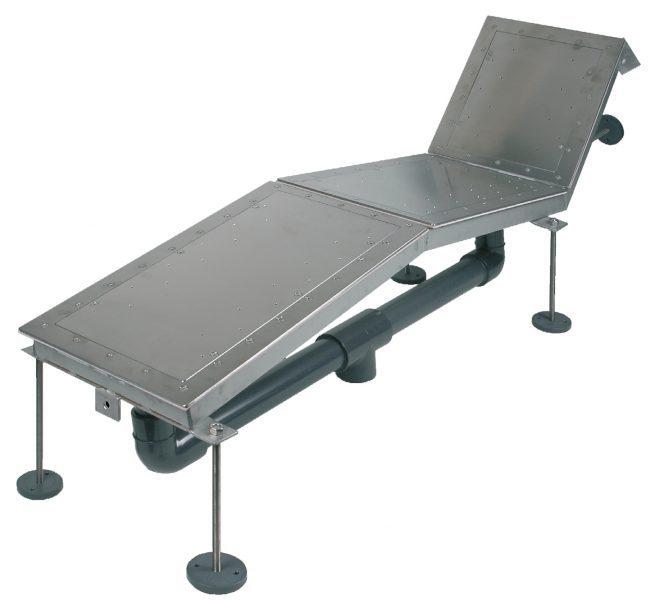 Закладная деталь для 3 местного аэромассажного лежака FitStar, нерж. сталь, пленка