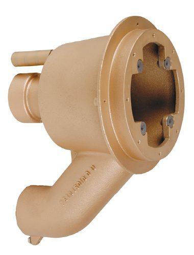 Закладная деталь противотока «Taifun — Duo», 240 мм, бронза, для плит. и плен. басс., выходы 2 ½» вн