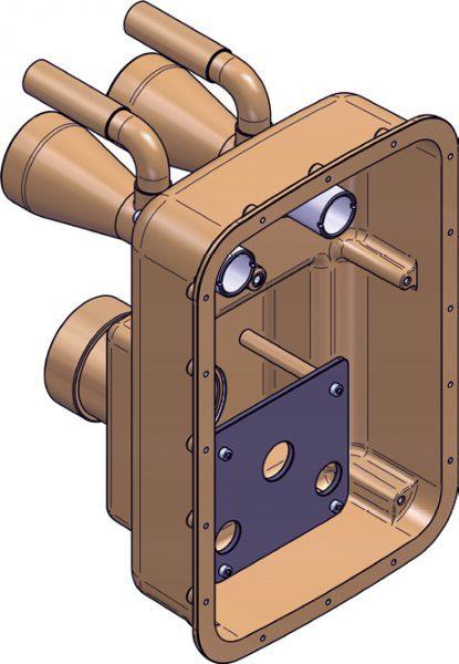 Закладная ниша противотока FitStar Essence, бронза, 240 мм