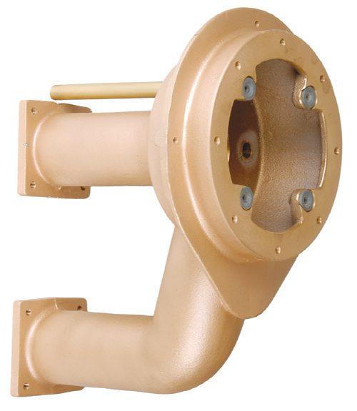 Закладные детали устройства противотечения «X-Stream», 240 мм, бронза,для плит. и плен. басс.
