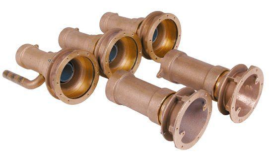 Закладные гидромассажа FitStar Combi-Whirl, 3 форсунки, 240 мм, бронза