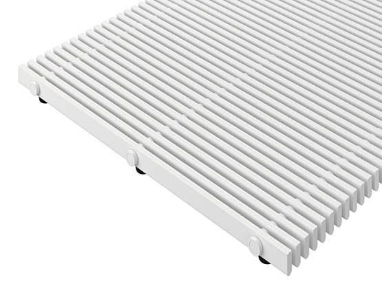 Жесткая напольная решетка для прилегающей укладки высотой 27 + 10 мм