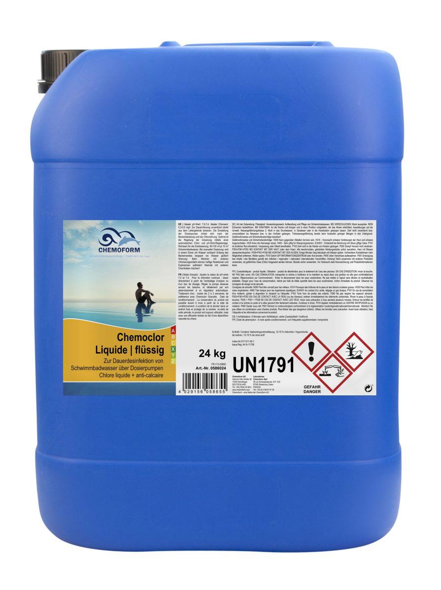 Жидкий стабилизированный хлор для дозирующего насоса Кемохлор