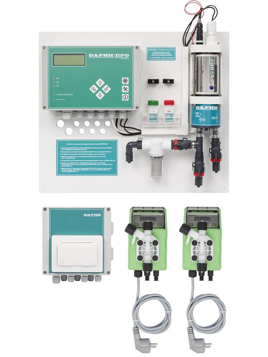 Автоматическая станция дозации  Кристалл М Свободный хлор, рН, Redox
