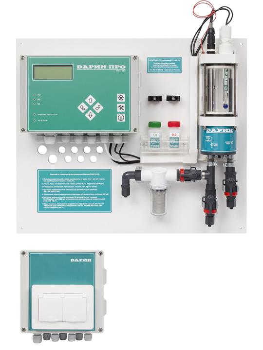 Автоматическая станция дозации  Кристалл Свободный хлор, рН, Redox